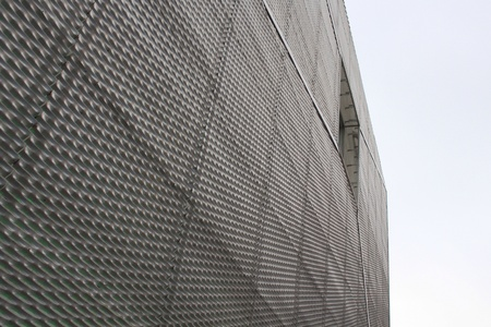 perforated: perforated panels facade Stock Photo