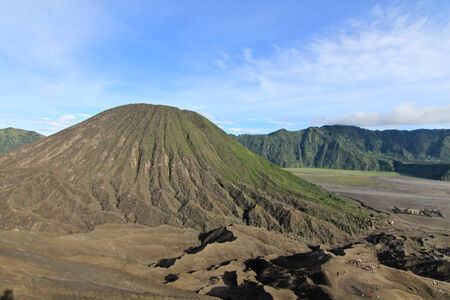 Mount Bromo in Tengger Semeru National Park, Java Island, Indonesia photo