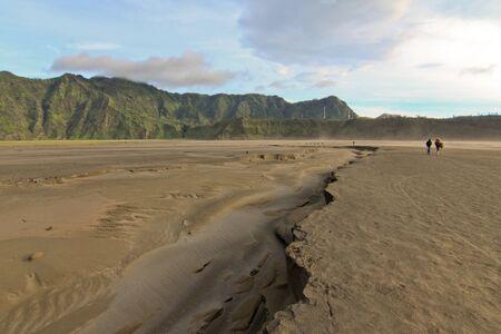 Desert landscape at Tengger Semeru National Park, Java Island, Indonesia photo