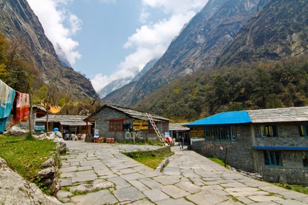 guesthouse: Guesthouse along the way to Annapurna base camp
