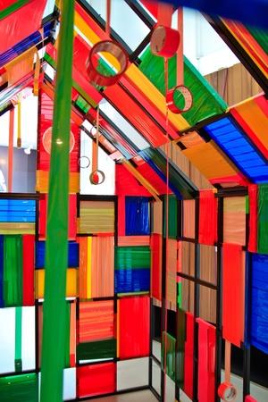 art: color  tape installation art