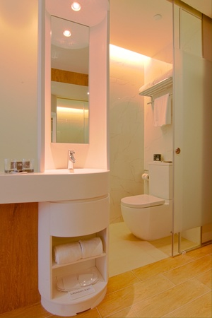 modern: interior bathroom