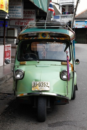 tuk tuk: Tuk tuk at Trang, Thailand Stock Photo