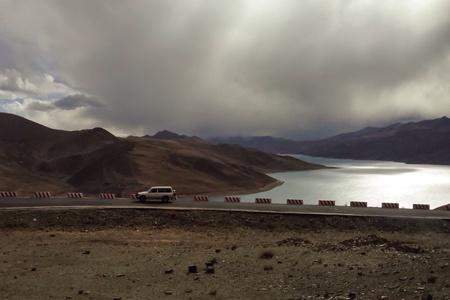 view: Scenery view in Tibet Stock Photo