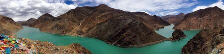 view: River in Tibet Stock Photo