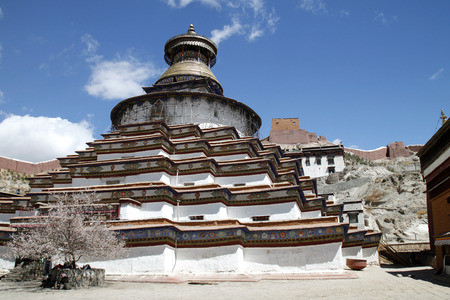 the stupa: Kumbum stupa Stock Photo
