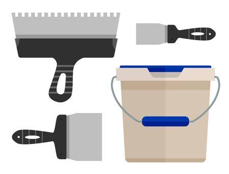 palette knife: Tools for maintenance.