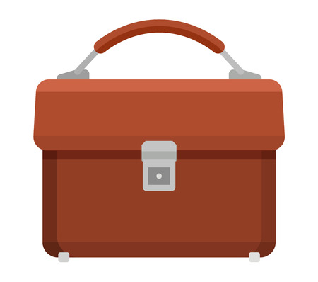 reputable: Briefcase for papers. Illustration