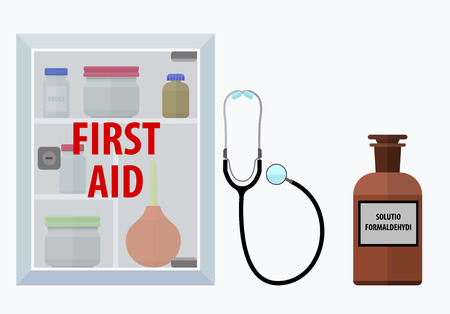 firstaid: First-aid. Eps10 vector illustration. Isolated on white background