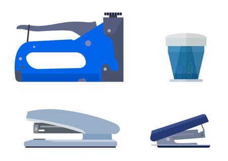 paper fastener: Stapler.  vector illustration. Isolated on white background Illustration