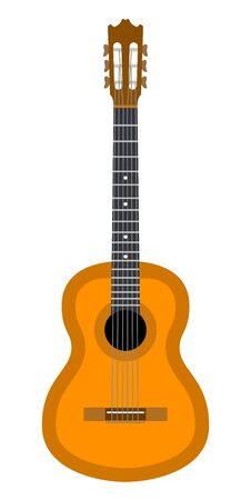 sounding: Guitar.  vector illustration. Isolated on white background Illustration