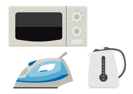 household appliances: Household appliances. Eps10 vector illustration. Isolated on white background