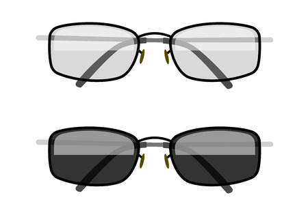 limpid: Sun-protection glasses. Eps10 vector illustration. Isolated on white background Illustration