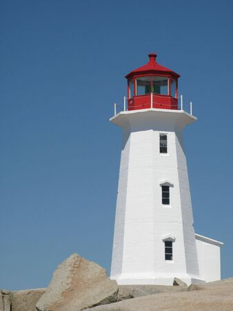 Lighthouse at Peggy�s Cove, Nova Scotia photo
