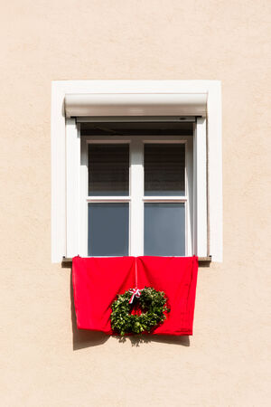 Detail of a decorated house facade in Bavaria, Germany.