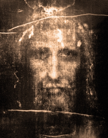 jesus face: Face of Jesus from  Shroud of Turin
