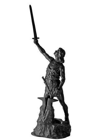 germanic: Statue of germanic mythical hero Siegfried