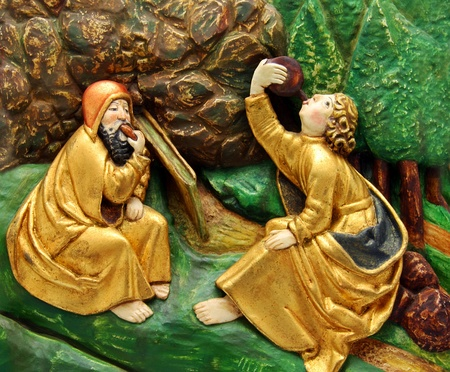 mediaeval: Siesta of the Apostles - close-up scene from Master Paul s altar in Levoca, in Slovakia - Master Paul   Majster Pavol  of Levoca was a famous mediaeval carver and sculptor of the 15th and 16th century - active mostly in the town of Levo  269;a Slovakia