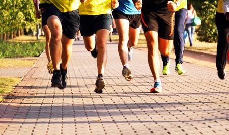 Running men photo