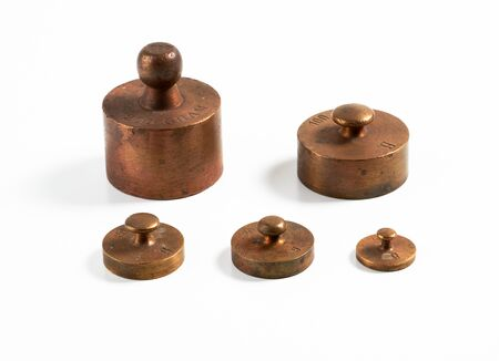 metric: Old brass metric weights