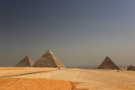 The great pyramid of Keops on the plateu of Giza photo