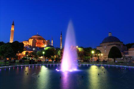 Hagia Sophia Museum at night