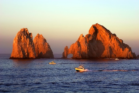 los cabos: Famous Cabo San Lucas rocks & arch  Stock Photo