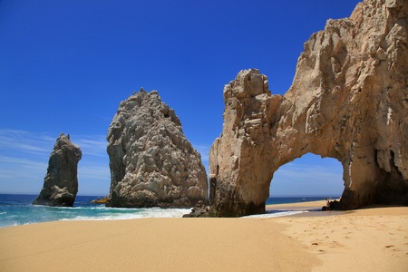 cabo: Lovers beach & it Stock Photo