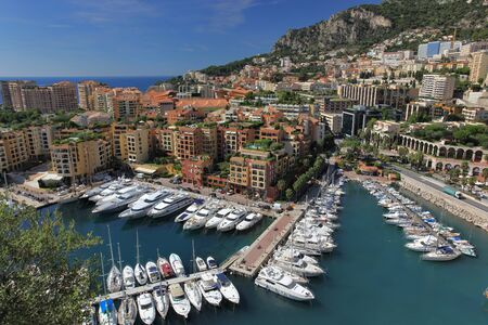 Panoramic view of Monaco and it photo