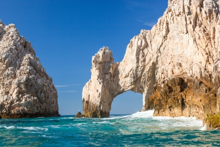 rock arch: Close-up of the famous arch in Cabo San Lucas