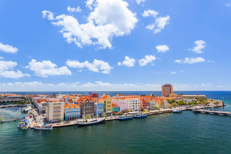 antilles: Panoramic view of Willemstad, Curacao  Editorial