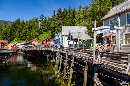 The Creek Street, Ketchikan Alaska 版權商用圖片 - 23851649