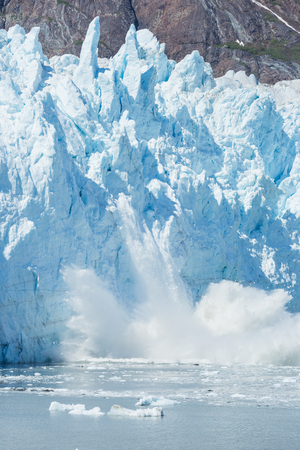 calving: Ice calving at the Margerie Glacier