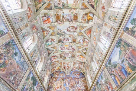 catholic chapel: Ceiling of the Sistine Chapel, Vatican Editorial