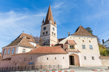 fortified: Fortified church in Cisnadie, Transylvania