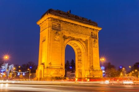 Triumphbogen, Bukarest Rumänien Standard-Bild - 24752253