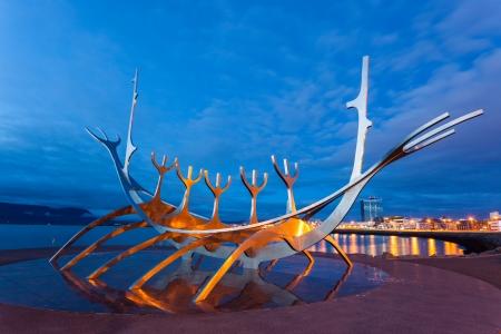 reykjavik: Reykjavik Sculpture Solfar Viking Ship, Iceland