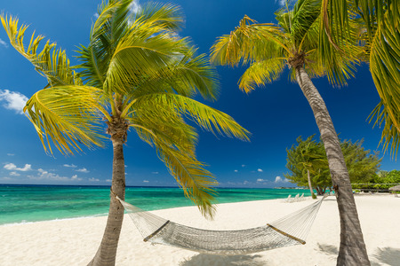 mile: 7 mile beach, Grand Cayman Stock Photo
