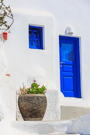 house at Santorini, Greece photo