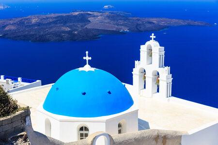 church at Santorini, Greece photo