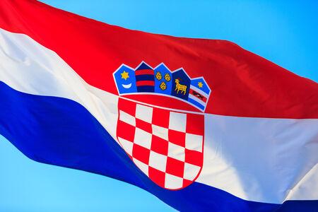 Croatian flag, Dubrovnik Croatia photo