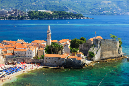 budva: Old town Budva, Montenegro Stock Photo