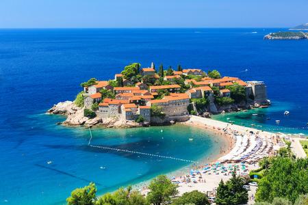 Sveti Stefan island in Budva, Montenegro 版權商用圖片