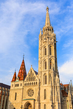 castle district: Matthias Church in Budapest, Hungary