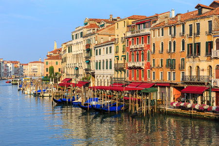 Grand canal in the morning, Italy Venice photo