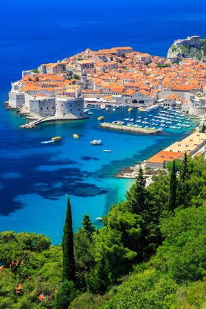 Panoramic view of old town Dubrovnik, Croatia