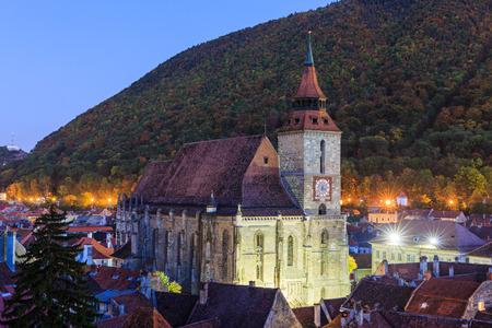 transylvania: Brasov old town and the Black Church. Transylvania, Romania