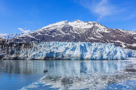 calving: Margarie Glacier in Glacier Bay National Park, Alaska