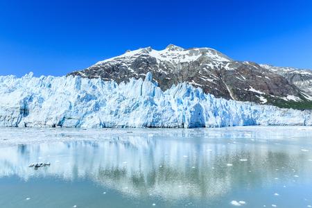 Glaciar Margarie en el Parque Nacional Glacier Bay, Alaska Foto de archivo