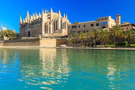 spain: La Seu the cathedral of Palma de Mallorca, Spain